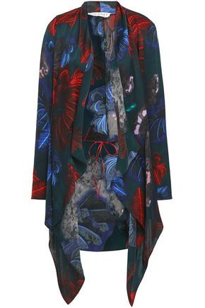 VIONNET Printed silk jacket