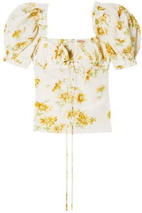 BROCK COLLECTION Trixie floral-print cotton and silk-blend voile top