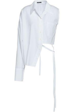 ANN DEMEULEMEESTER Asymmetric cotton-poplin shirt