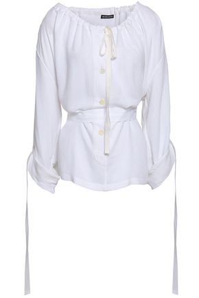 ANN DEMEULEMEESTER Gathered crepe blouse