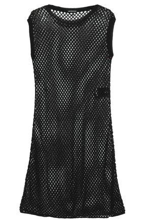 ANN DEMEULEMEESTER Open-knit cotton mini dress