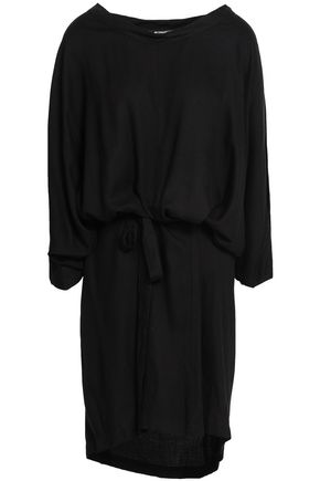 ANN DEMEULEMEESTER Belted crepe dress