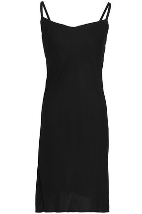 ANN DEMEULEMEESTER Crepe mini slip dress