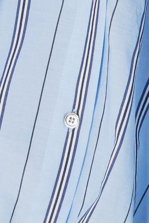 BEN TAVERNITI™ UNRAVEL PROJECT Cutout striped cotton-blend bodysuit