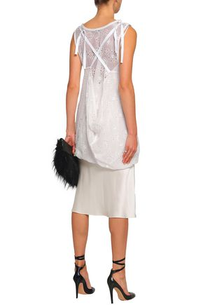 ANN DEMEULEMEESTER Broderie anglaise silk-blend tunic