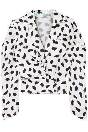 OFF-WHITE™ Printed satin blouse