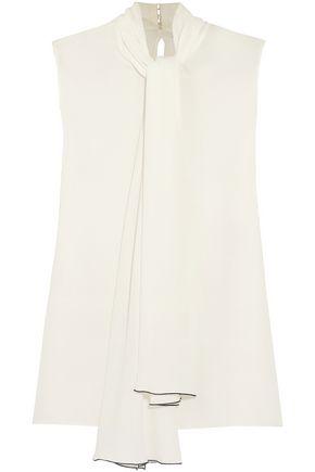 ALEXANDER MCQUEEN Silk-crepe blouse