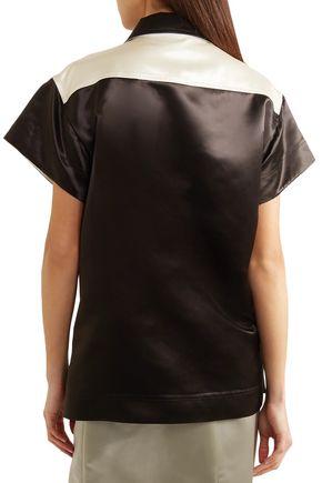 CALVIN KLEIN 205W39NYC Color-block satin shirt