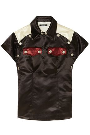 CALVIN KLEIN 205W39NYC Color-block satin shirt