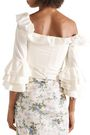 BROCK COLLECTION Thelma one-shoulder ruffled cotton and silk-blend blouse