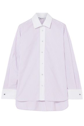 MAX MARA Striped cotton-poplin shirt