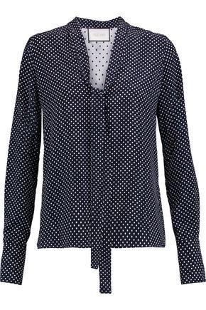 41c1ebe9cb937 ALEXIS Pussy-bow polka-dot satin blouse