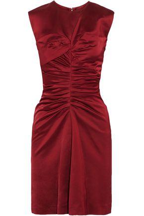 ISABEL MARANT Ruched satin mini dress