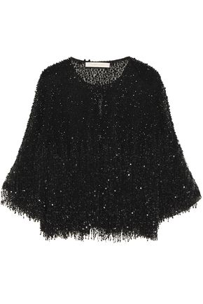 NAEEM KHAN Sequined beaded embroidered tulle jacket