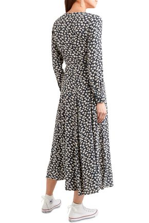 66183b9dcc496 Roseburg floral-print crepe midi wrap dress   GANNI   Sale up to 70 ...