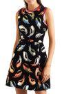 MARY KATRANTZOU Metallic flocked velvet mini dress