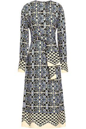 GOEN.J Belted printed silk midi dress