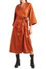 ELLERY Printed stretch-silk midi wrap dress