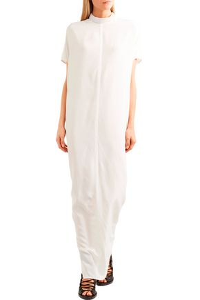 RICK OWENS Bead-embellished silk-georgette maxi dress