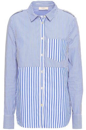 BA&SH Striped cotton-poplin shirt