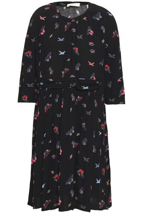 BA&SH Floral-print crepe midi dress