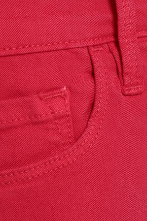 FRAME Frayed denim shorts