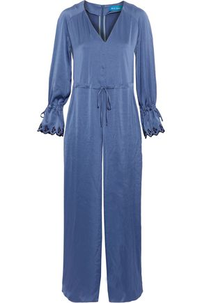 M.I.H JEANS Moon All In One embroidered washed-satin jumpsuit
