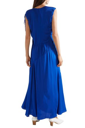 ELLERY Ruched stretch-silk maxi dress