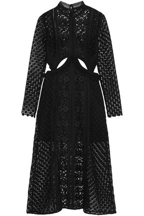 SEE BY CHLOÉ Cutout lace midi turtleneck dress