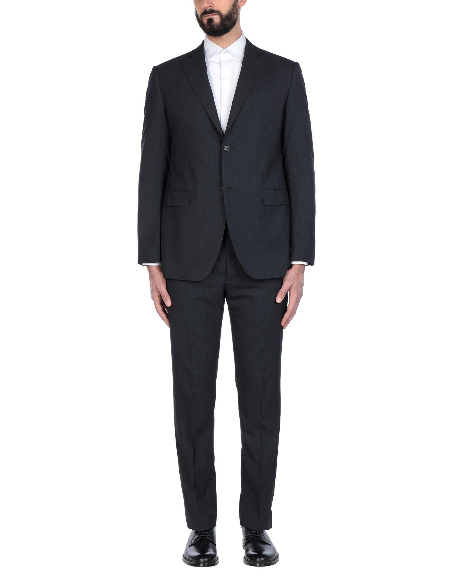 《送料無料》LUBIAM メンズ スーツ スチールグレー 54 ウール 100%