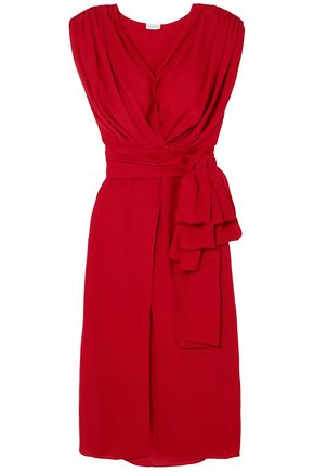 MAGDA BUTRYM Silk-crepe midi wrap dress