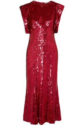 ATTICO Sequined tulle midi dress