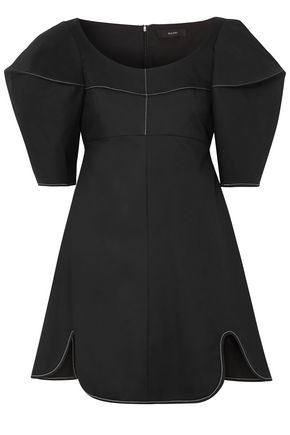 Ellery ELLERY WOMAN UTOPIAN FANTASY COTTON-TWILL MINI DRESS BLACK