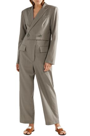 TIBI Double-breasted wool jumpsuit
