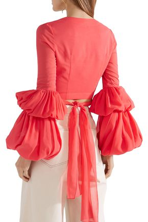 ROSIE ASSOULIN Tiered cropped cotton top
