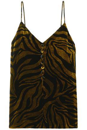 HILLIER BARTLEY Zebra-print velvet camisole