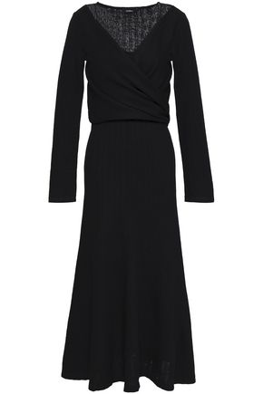 GOEN.J Wrap-effect wool midi dress