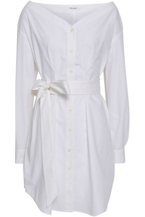 FRAME Cotton[-poplin mini shirt dress