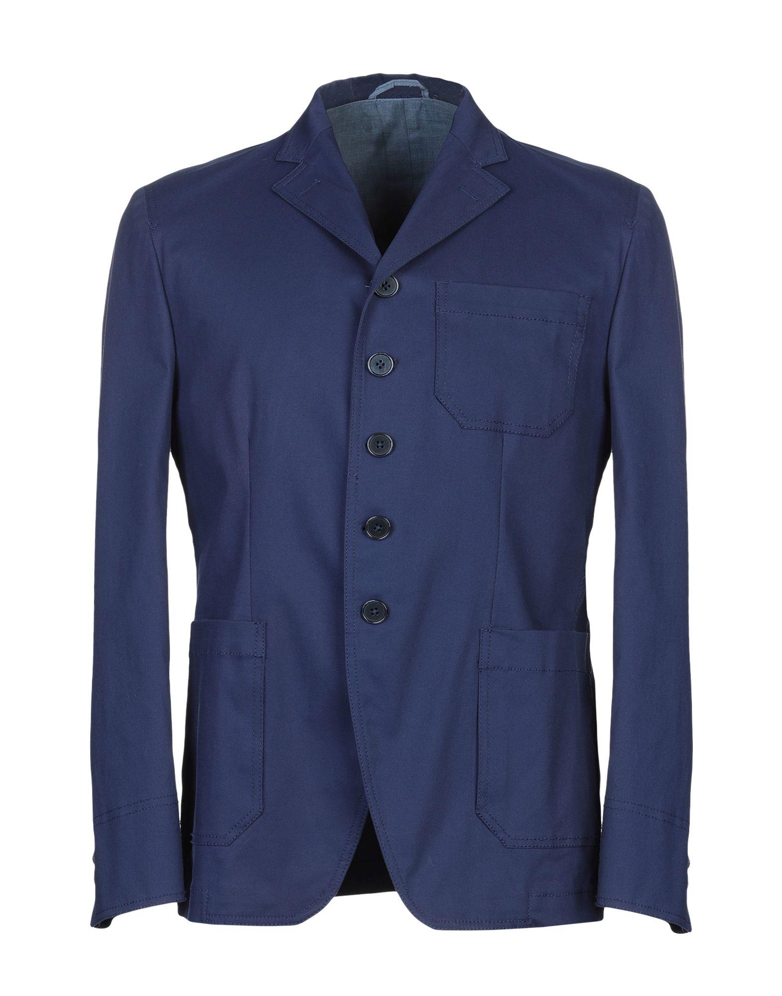 《期間限定セール開催中!》JOHN SHEEP メンズ テーラードジャケット ブルー 46 コットン 97% / ポリウレタン 3%