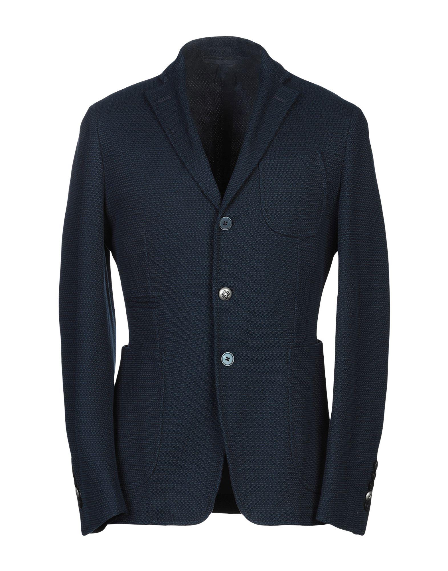 《送料無料》JOHN SHEEP メンズ テーラードジャケット ブルー 48 コットン 100%