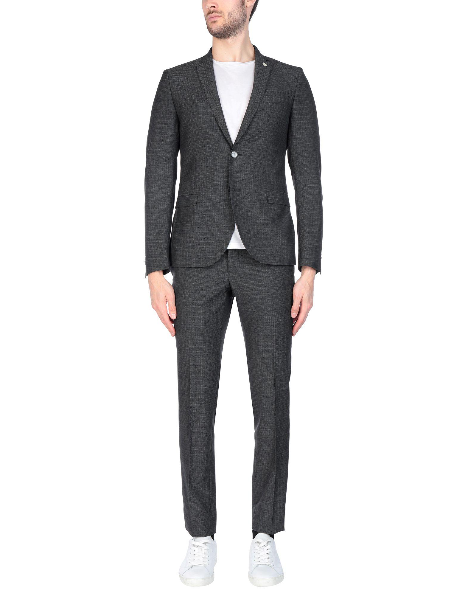 《送料無料》MANUEL RITZ メンズ スーツ スチールグレー 48 バージンウール 100%