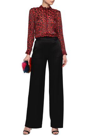 ALICE + OLIVIA Willa leopard-print burnout chiffon shirt