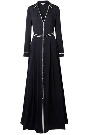 GABRIELA HEARST Lempicka pleated silk-twill maxi dress