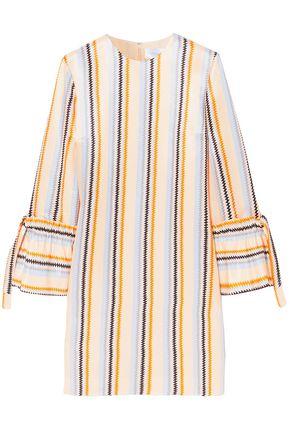 VICTORIA, VICTORIA BECKHAM Striped twill mini dress