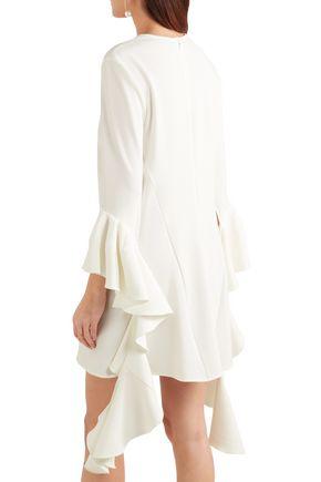 ELLERY Ruffled crepe mini dress