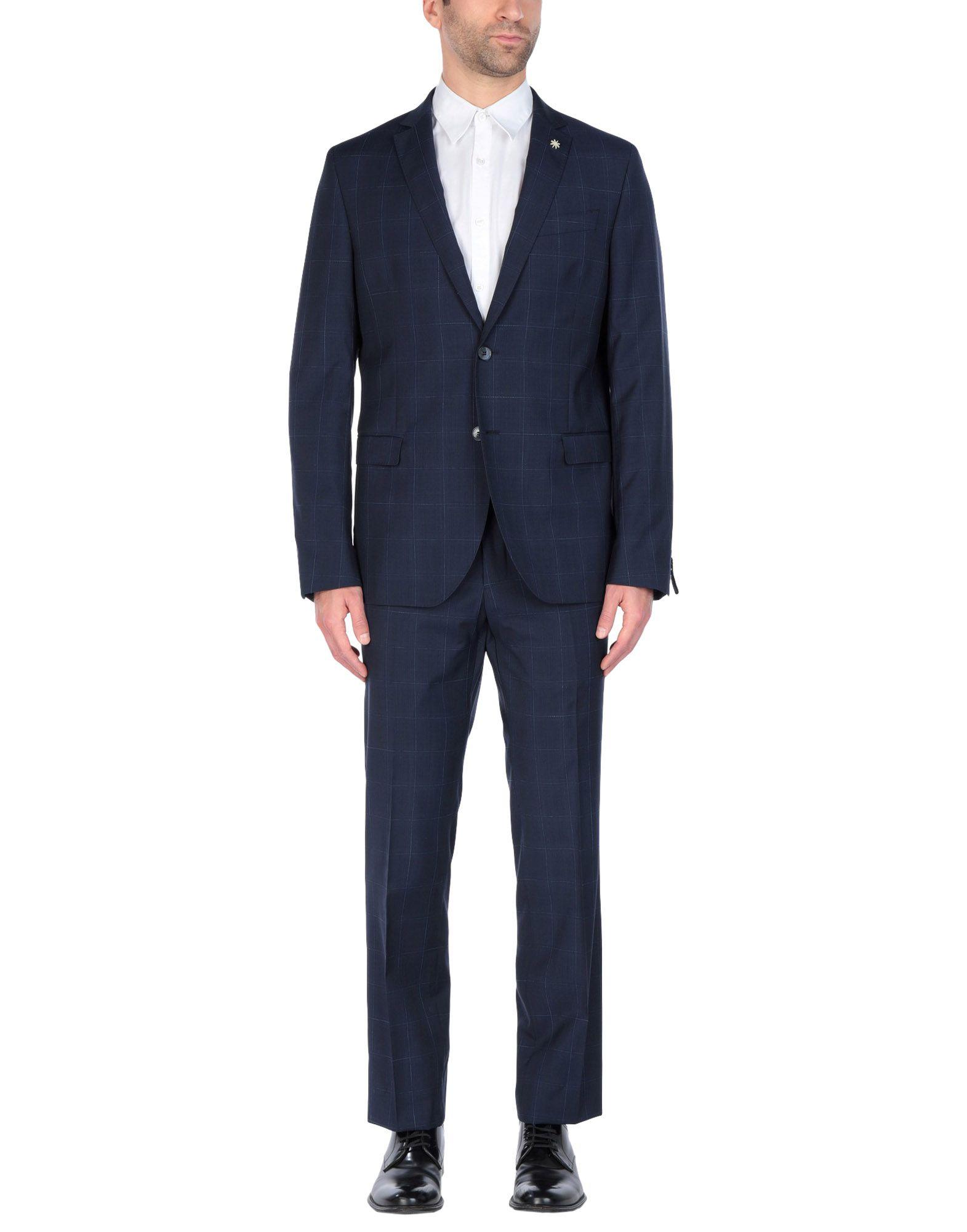 《送料無料》MANUEL RITZ メンズ スーツ ダークブルー 52 バージンウール 100%
