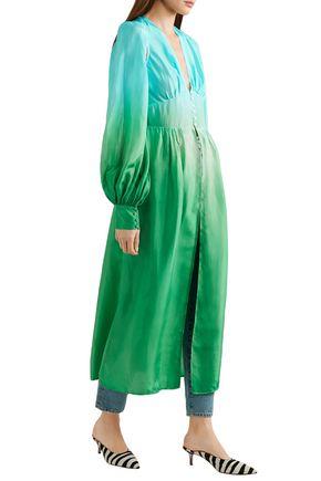 ATTICO Cutout dégradé silk midi dress