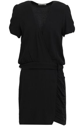 BA&SH Sweeny wrap-effect crepe mini dress