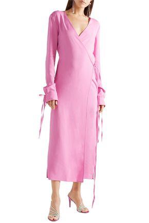 ATTICO Crepe midi wrap dress