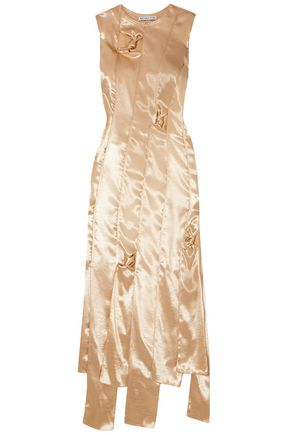 REJINA PYO Paneled satin midi dress
